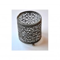 Round Antique Candle Holder