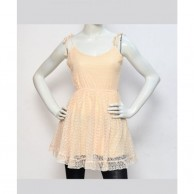 Lace Women Dress - Yellow