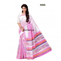 Branded Printed Cotton Saree 3088
