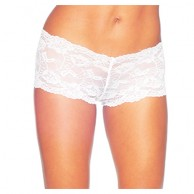 Floral Lace Boxy Short Brief AM492
