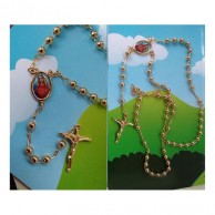 Virgin Mary Rosary Pray Necklace AJN05