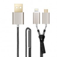 Zipper Power Cable 2 In 1