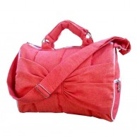 Trendy Red Handloom Hand Bag