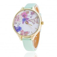 Fashion Geneva Women Girl Roman Numerals Leather Band Analog Quartz Wrist Watch W-103