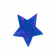 Pack Of 10 Blue Designed Christmas Decoration Star Stickers