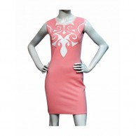 MX Caligraphy Design Dress - Pink