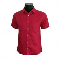Men's Solid Shirt Red CCF0104SS205