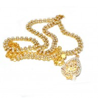 Yellow Gold Tone Crsystal Gold Plated Hip Chain