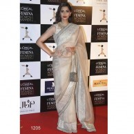 Bollywood Sonam White Saree SR1424
