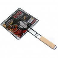 Long Handled BBQ Meat Grill
