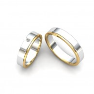 TWO TONE COUPLE RING WD - 02