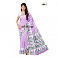 Branded Printed Cotton Saree 3102