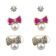 Pearly Bow Stud Set ERGPBS