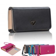 Women PU Leather Zipper Clutch