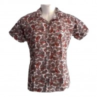 Brown Leaves Printed Shirt