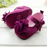 Cute Baby Girls Toddlers Purple Flower Shoes