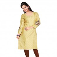 Light Brown Cotton Kurti