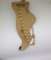 Gold Plated  Anklet With Double Chain