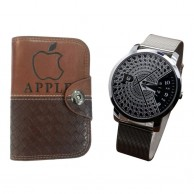 Combo of Paidu Japanese Watch and Apple Wallet 1