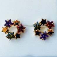 Circle Star Multicolour Earring EZE056