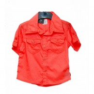 Double Sided Pocket Boys Shirt - Dark Red