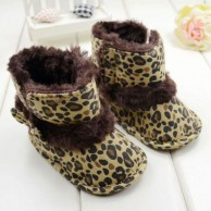 Leopard Bowknot Toddler Boots