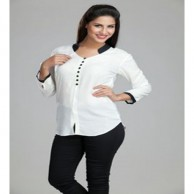 White Color Ladies Short Top 1075