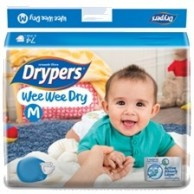 Drypers  Baby Diapers Wee Wee Dry  Medium 14Pcs