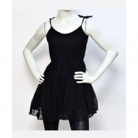 Lace Women Dress - Black