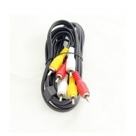 3RCA Plug to 3RCA Plug Audio Video Cable 3.0m
