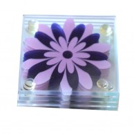 Purple Glass Coaster Set