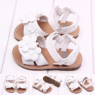 Baby Girl White Flower Flat Sandals