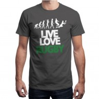 Live Love Rugby Gray T shirt for Men