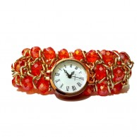 Women's Tiny Red Diamond Quartz Watch