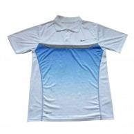Dry Fit Blue And White T Shirt