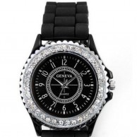 Women's Stainless Steel Black Watch
