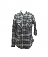Flannel Plaid Dress Shirts for Woman C8