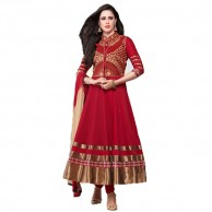 Red and Gold Anarkali Suit 5005