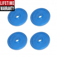 4 Pack 2.5Kg Blue Hand Painted Weight Plate