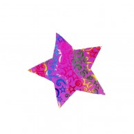 Pack Of 10 Colorful Christmas Decoration Star Stickers