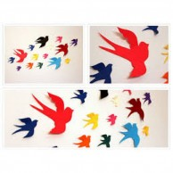 Multicolor Birds Wall Decor
