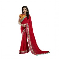 Red Designer Saree MIN1003