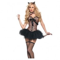 Leopard Printed Corset Costume Lingerie BB979
