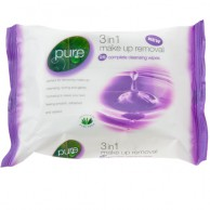 Pure 3 in 1 Make up Removal 25 Wet Wipes