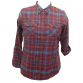 Flannel Plaid Dress Shirts for Women C6