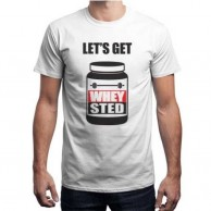 Whey Sted White T shirt for Men