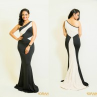 Monochrome maxi dress - W017