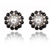 1 Pair of Crystal Rhinestone Earrings Fashion Jewellery E 002