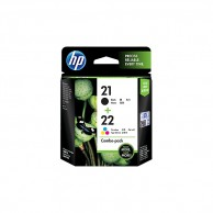 HP 21 Black and 22 Tri-color 2-pack Original Ink Cartridges CC630AA