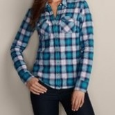 Flannel Plaid Dress Shirts for Women C3